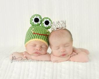 Baby Frog Hat, 0-3 3-6 6-12 months, 2-5 Years, Toddler Frog Hat, Newborn Frog Hat, Frog Beanie Hat, Crochet Frog Hat, Newborn Photo Prop