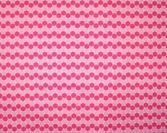 "Hot pink and light pink dots 1 yard  X 42"""