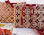 Handmade Large Purse Gift Box with Coordinating Plain or Printed Ribbon perfect for product packaging or gifts - LPGB001