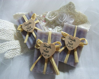 40 Wedding favors soaps - mini soaps - LAVENDER - Shea butter, organic,  handmade soap - rustic wedding favors