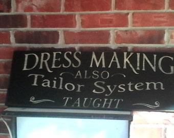 Reproduction Primitive Dressmaker Sign 12x34