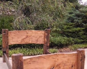 Rustic,Reclaimed Timber Bed