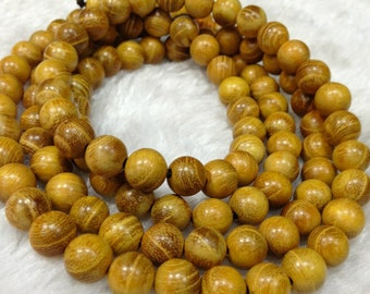 Mala Prayer Bead Meditation Yoga African Gold Ebony Wood Bead Bracelet Buddha Tibetan necklace Nepal Prayer Bead - 301-323 Wholesale Mala