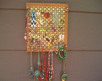 jewelry organizer jewelry holder jewelry storage Australian lacewood woodworking earring holder earring organizer sustainable wood