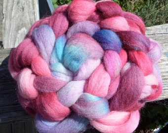 Roving, Handpainted Roving, 5.3oz., 151g.