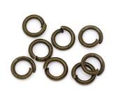 4mm Jump Rings : 100 Antique Brass Open Jump Rings 4mm x .7mm (21 Gauge)   4mm Bronze Jump Rings -- Lead, Nickel, & Cadmium free 4x.7AB.100