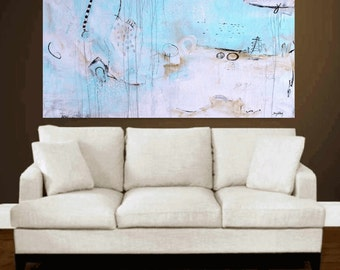 abstract painting set of 6 painting  , large  wall art  from jolina anthony signet