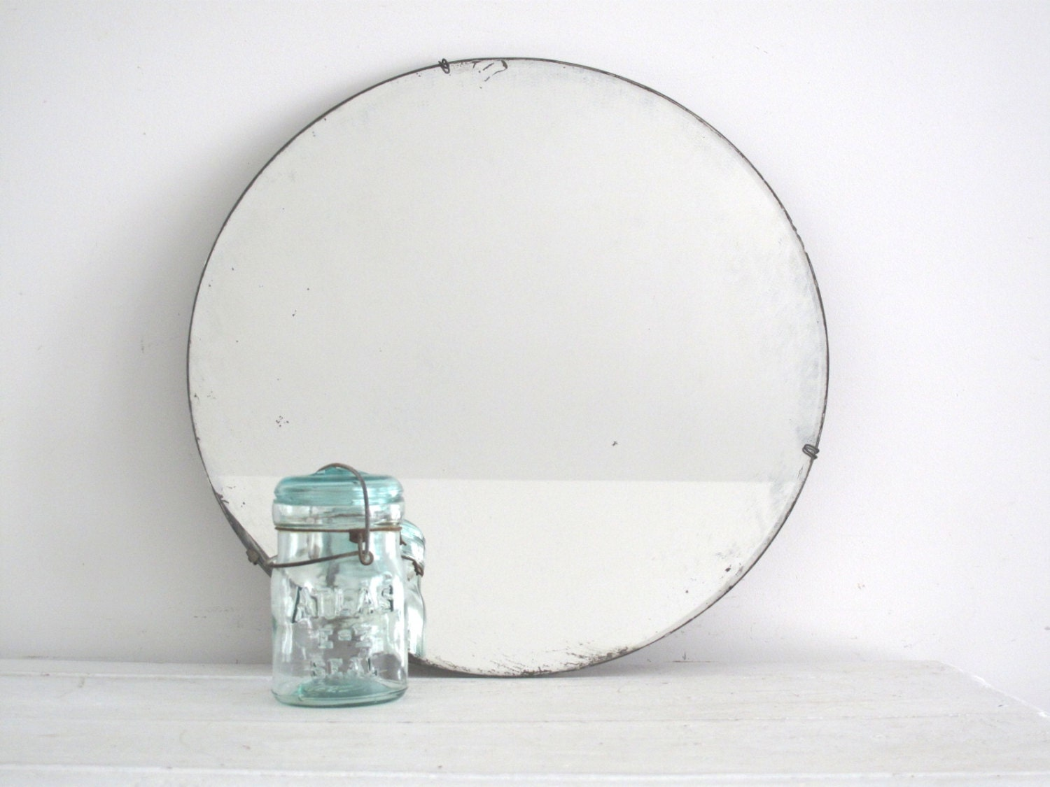 Chrome Art Deco Wall Light For Bathroom Mirrors Or Walls: Round Wall Mirror Art Deco Round Mirror With By