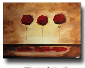 Abstract  Tree Art  Painting by Kag 24 x30 inches