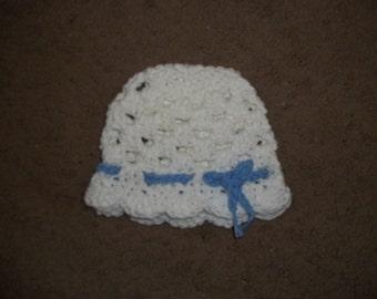White Scalloped Hat