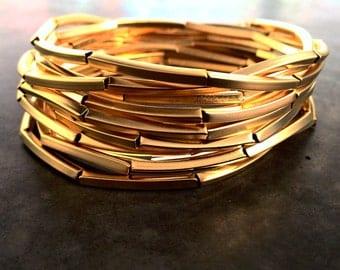 Gold Necklace, Bracelet Necklace, Multi Strand Necklace,long Necklace, Multi Bracelet, Choker Necklace, gold choker,  layered necklace