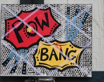 Memory Board Super Hero/Villain Pop Art Insired 16X20 inch Organizer in Primary Colors