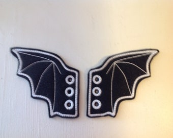 More bat wing  inspired shoe wings great for Comicon