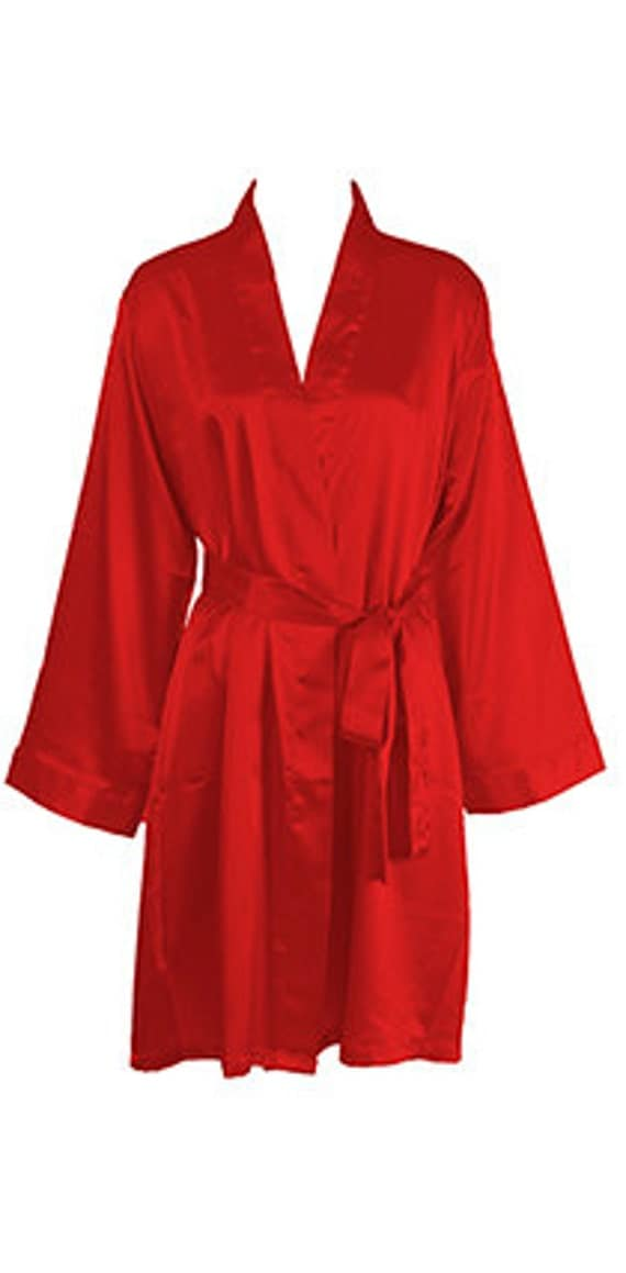 Luxe Satin Robe in Red - PARSEALED |Red Silk Robe