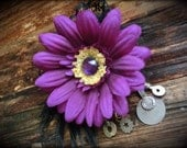 Gypsy Kuchi Hair Clip// Tribal Belly Dance, Belly Dance, Gothic, Black and Purple,Hair Accessories