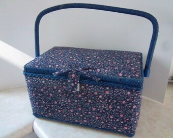 Blue Sewing Tote