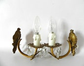 French vintage bronze wall sconces
