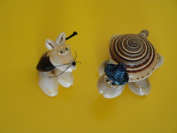 Sea Shell Seashell Turtle & Mouse Figurines Philippines
