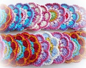 Set of 12 Crochet Flowers (MIX)