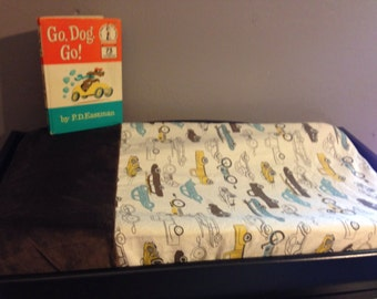 Changing Pad Cover-Retro Rides w/Brown Minky Set