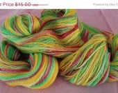 50% Off Sale Hand Painted Sock Yarn  2 ply Fingering Weight in Salsa