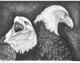 Eagles in Ink- Note Card Package