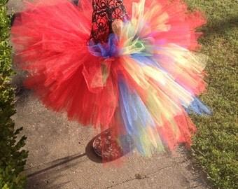 Parrot Bustle Tutu,  Newborn Costume Tutu, Baby Tutu Costumes, Tutus for children, 1st birthday tutus, birthday tutu, mommy and me tutus
