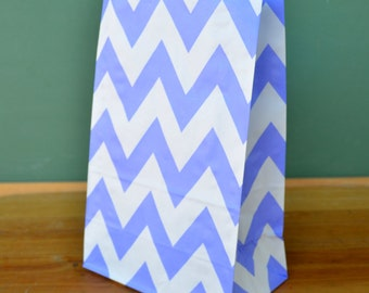 CLEARANCE Purple Dot Stand Up Paper Bags -12- Candy Buffet, Party Favor, Wedding Favor - 5 x 7 Flat Bottom Bags