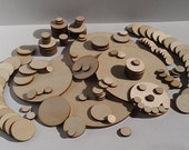 """25 Ct 1.5"""" Wood Circles - Unfinished - for Charms, Crafts, Pendants, Round Circles, DIY Projects SH-310-1.5"""