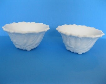 Milk Glass Candle Holders Wild Rose Indiana Glass Wedding Decor - FL