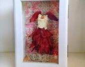 Fairy Dress for Poppy Cloudskimmer in Red Gladiola Petals OOAK