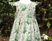 Bay Dress 5t, Heather Bailey fabric, Brownie Goose pattern