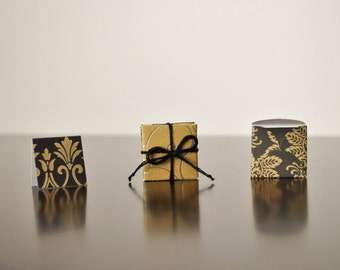 Black and Gold Gift Tags and Envelopes - Tiny Envelopes and Cards - Elegant Gift Tags - Mini Envelopes with Tiny Card Inserts