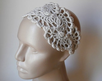 HeadBand- Crochet Headband-   Hair Fashion Accessories - Crochet HairBand in Ivory