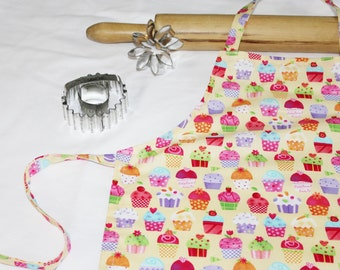 Gourmet Yellow Cupcakes Child Apron