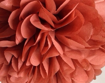 Cinnamon Tissue Paper Pom Poms - Baby Shower - Fall Colors - Decoration - Wedding - Nursery - Bridal Shower - Birthday Party Decor