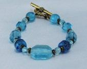Blue Vintage Glass Bracelet.  Gotta have it!