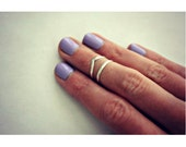 Reserved for Chandelle-- 14kt White Gold Knuckle Rings