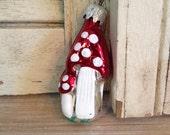 Mushroom Christmas Tree Ornament Made in West Germany