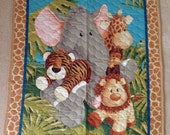 Ready to ship Animals Baby Quilt