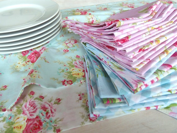 MADE TO ORDER Wedding & Event Table Runners, Cloth Napkins, Burlap Silverware Pockets - Customized Orders Just For You