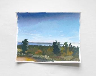 "8x10"" landscape painting - ""Mackinac Lookout"""