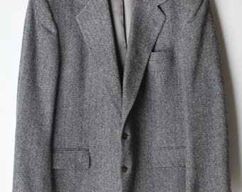 Mens's Vintage Wool Tweed Sportcoat