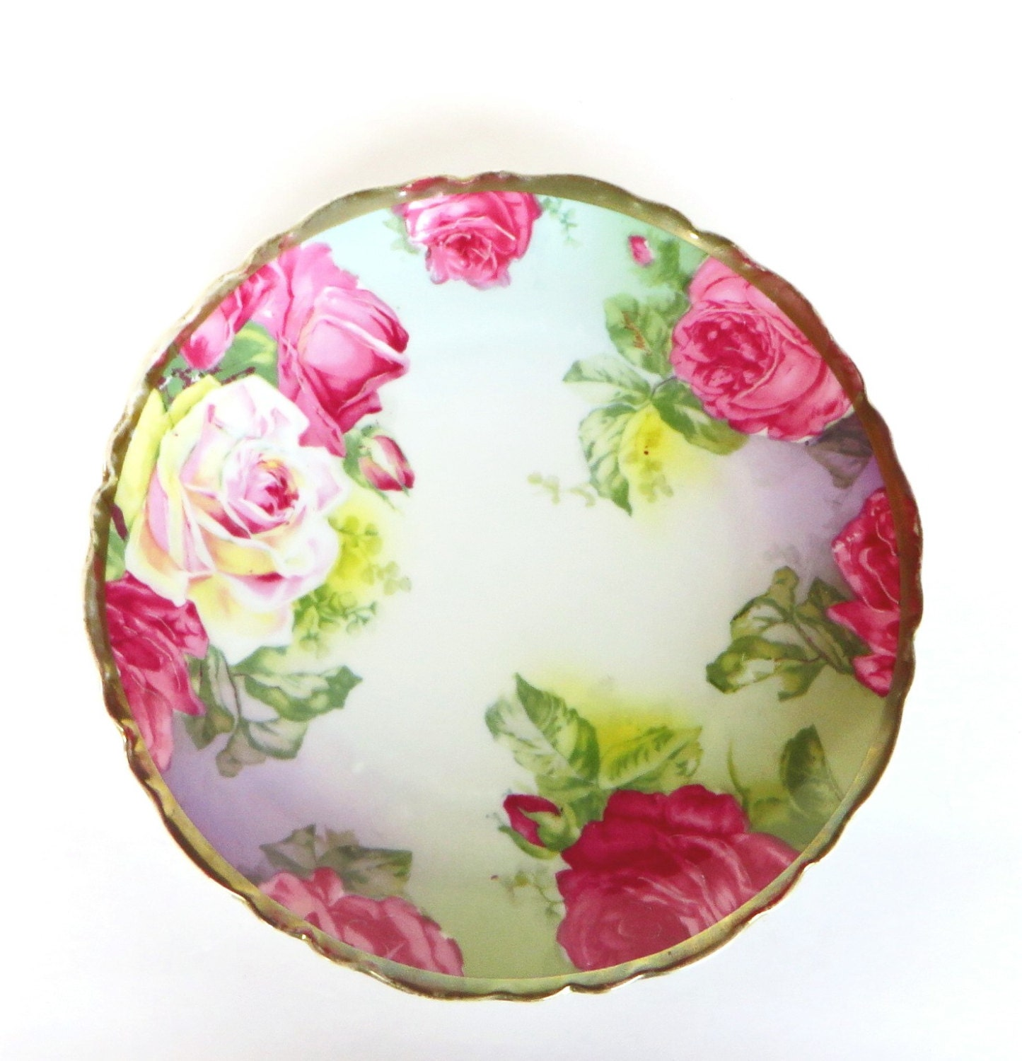 Hand Painted Lemon Plate Austria