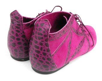 Fuchsia Dragon Elf Shoes Whimsical Fantasy Faerie Pixie Purple VTG Violet Magenta Suede Leather LARP Cosplay Hobbit Fairy Size 6 Elven Boots