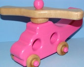 Wooden MINI Helicopter - Pink Lady Flyer