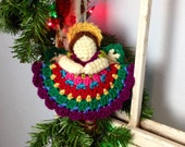 Heavenly Crochet Pattern Angel Ornament or Gift Tag Holidays Christmas