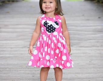 Minnie Mouse dress in pink ready to ship