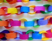 BRIGHT Festive Garland * Bright Colors * Felt Garland *  Colored Felt * Rainbow Colors * Felt Chain