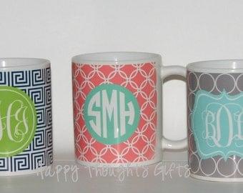 Personalized Teacher Gift - Monogram Coffee Mug - Personalized Coffee Cup - Monogram Mug - Coffee Cup - Personalized - Monogram Gift